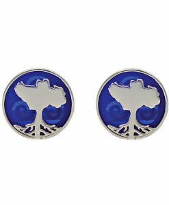 Growing Home Cufflinks Blue by Tracy Gilbert Designs