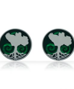 Growing Home green cufflinks by Tracy Gilbert Designs