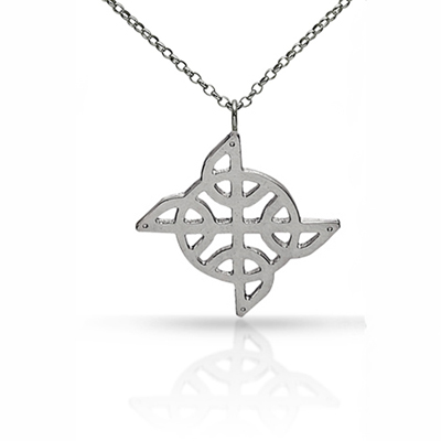 Celtic Knot pendant - asymmetrical by Tracy Gilbert Designs