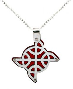 Celtic Knots acrylic pendant - Tracy Gilbert Designs