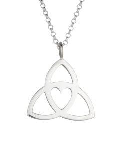 Celtic Trinity Heart Pendant - medium - Tracy Gilbert Designs