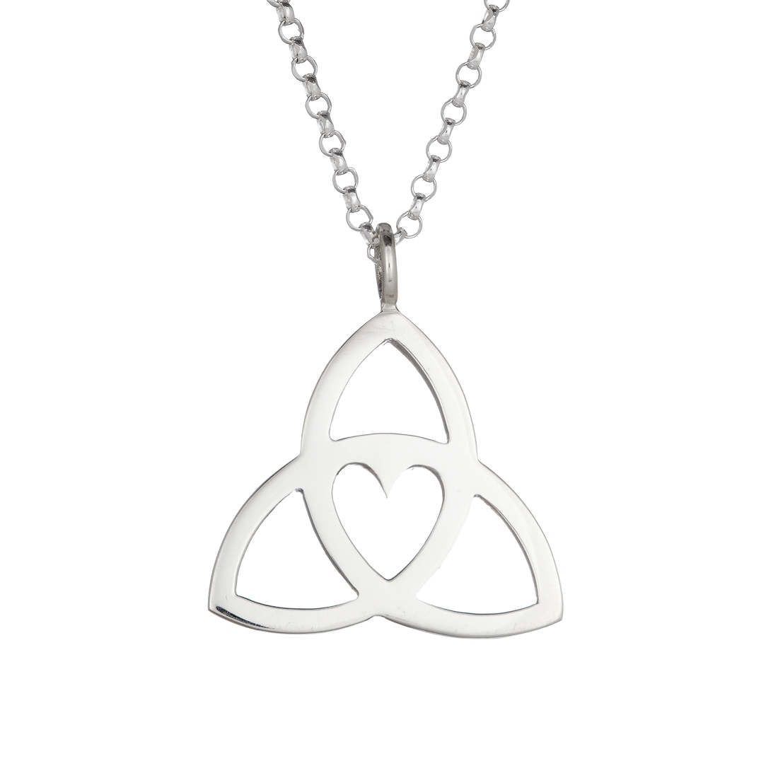 Celtic Trinity Heart Pendant - medium - Tracy Gilbert Designs