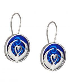 Children of Lir blue earrings - Tracy Gilbert Designs