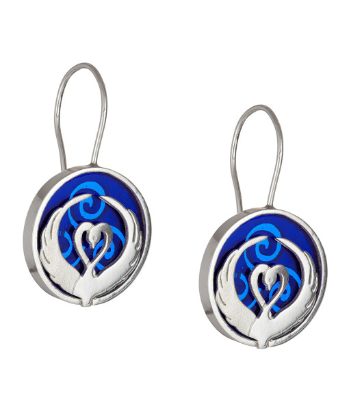Children of Lir blue earrings - Tracy Gilbert Designs