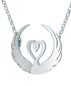 Children of Lir silver pendant by Tracy Gilbert Designs