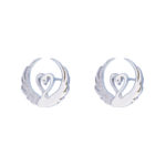 Children of Lir - silver stud earrings by Tracy Gilbert Designs
