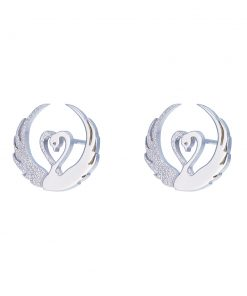 Children of Lir - silver stud earrings by Tracy Gilbert Designs