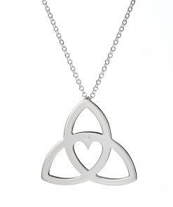 Personalised Trinity Heart pendant