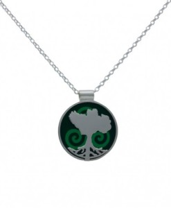 Growing Home Pendant 20mm green by Tracy Gilbert Designs