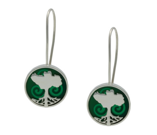Growing Home Earrings Green by Tracy Gilbert Designs