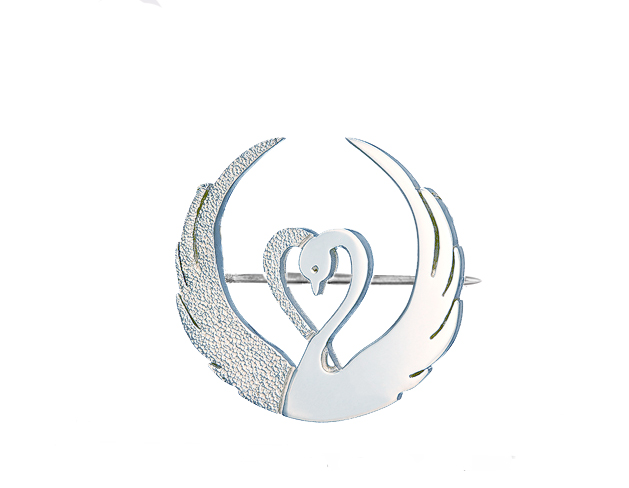 Children of Lir silver brooch - Tracy Gilbert Designs