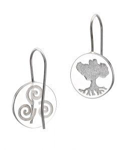 GHB04 - Growing Home Button drop earrings