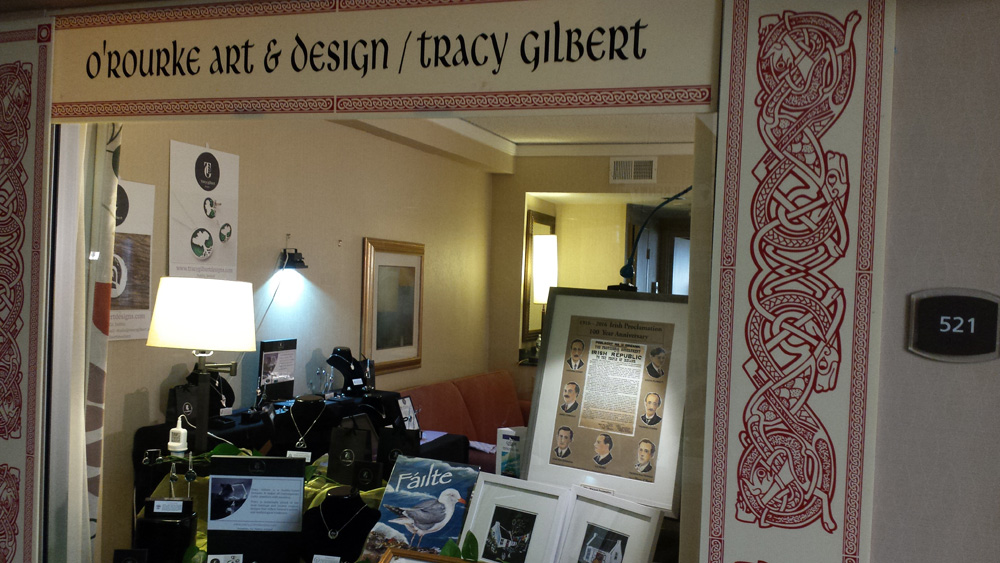Tracy gilbert designs exhibits at the ireland show secaucus for Irish jewelry stores in nj