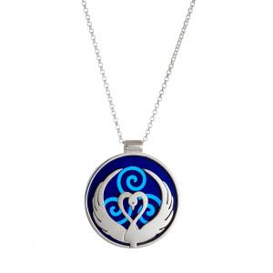 Children of Lir pendant - blue acyrlic