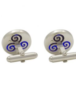 Growing Home Cufflinks Blue - back by Tracy Gilbert Designs