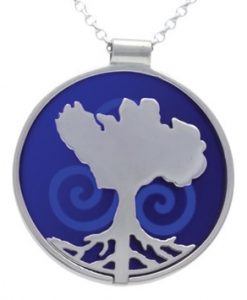 Growing Home pendant (blue) by Tracy Gilbert Designs
