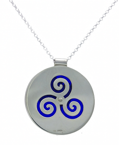Growing Home pendant – blue – back