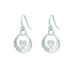 Children of Lir - silver drop earrings by Tracy Gilbert Designs