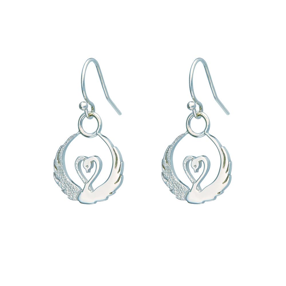 Children of Lir - silver drop earrings by Tracy Gilbert Designs