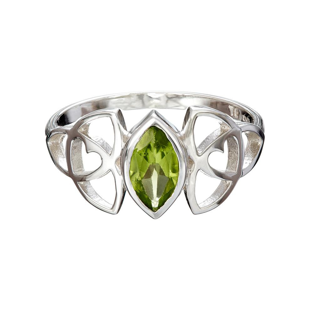 celtic gemstone ring