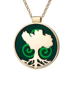 growing home pendant gold by Tracy Gilbert