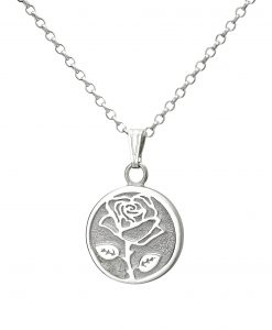 Wild Rose Pendant - Dainty - Front