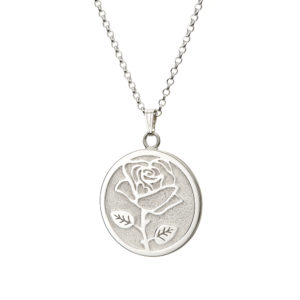 Wild Rose Pendant -large - front