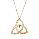 Celtic Heart Pendant - Emerald Gold by Tracy Gilbert Designs