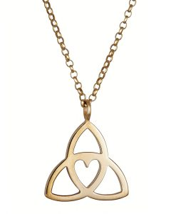 Celtic Heart Pendant - Gold by Tracy Gilbert