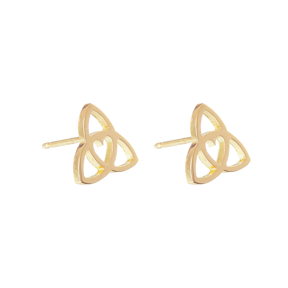 Celtic Heart Studs gold by Tracy Gilbert Designs
