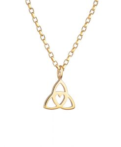 Celtic heart Pendant - dainty Gold by Tracy Gilbert Designs