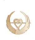 Children of Lir gold brooch - Tracy Gilbert Designs