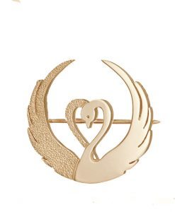 Children of Lir gold brooch - Tracy Gilbert Designs