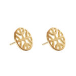 Celtic Knot Round studs - gold