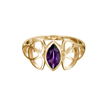 celtic heart amethyst ring - gold by Tracy Gilbert Designs