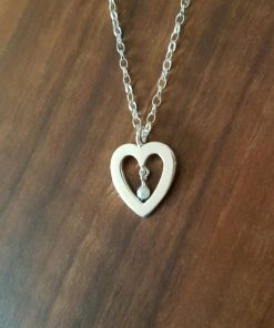Heart with pearl pendant by Tracy Gilbert Designs