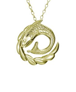 Salmon of Knowledge by Tracy Gilbert Designs - gold