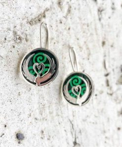 Children of Lir Drop Earrings - Green