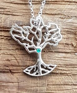 Growing Home organic pendant with emerald