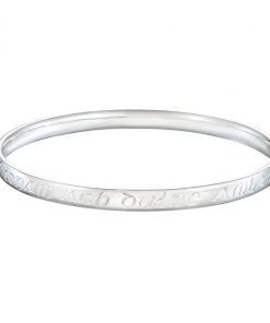 Old Irish prayer engraved bangle