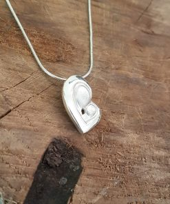 mother and child heart pendant by Tracy Gilbert Designs