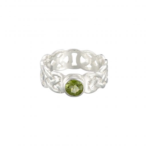 Celtic Knot gemstone ring by Tracy Gilbert Designs