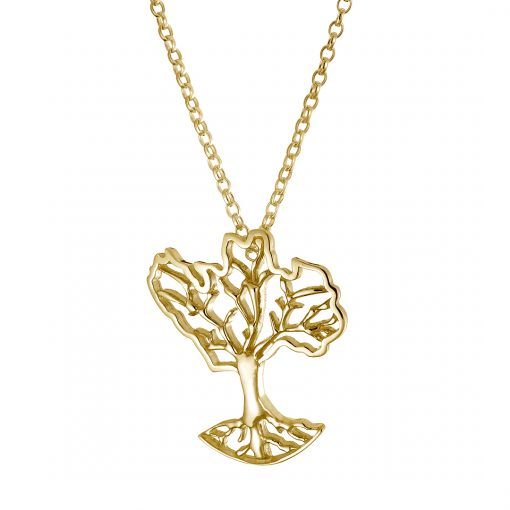 Growing Home Organic Pendant - Gold