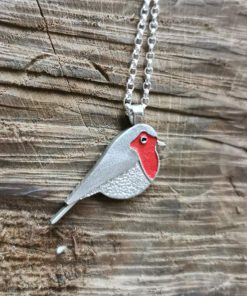 Sterling Silver Robin redbreast by Tracy Gilbert Designs