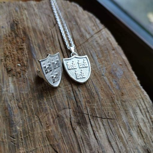 Dublin Crest tiepin and pendant