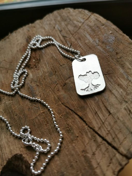 Growing Home Sterling Silver Dogtag by Tracy Gilbert