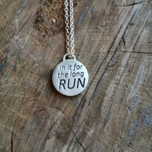 Marathon Running Pendant by Tracy Gilbert Designs