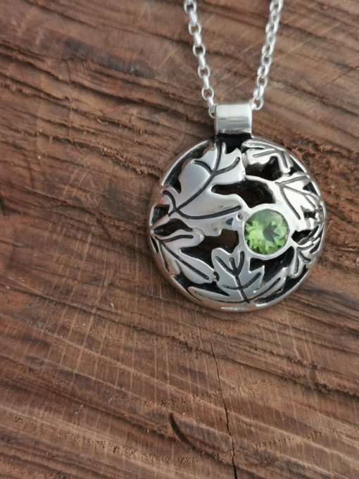 Beyond the Hawthorn Tree Pendant by Tracy Gilbert Designs