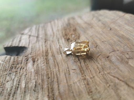 Golden Citrine 9ct gold pendant