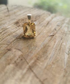 Golden Citrine 9ct gold pendant